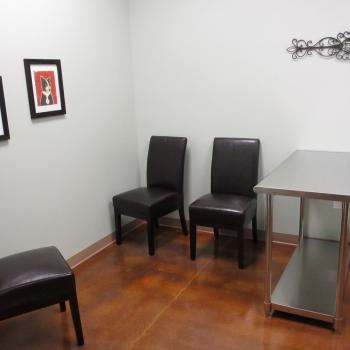 Spacious consult rooms.  In room check-out.